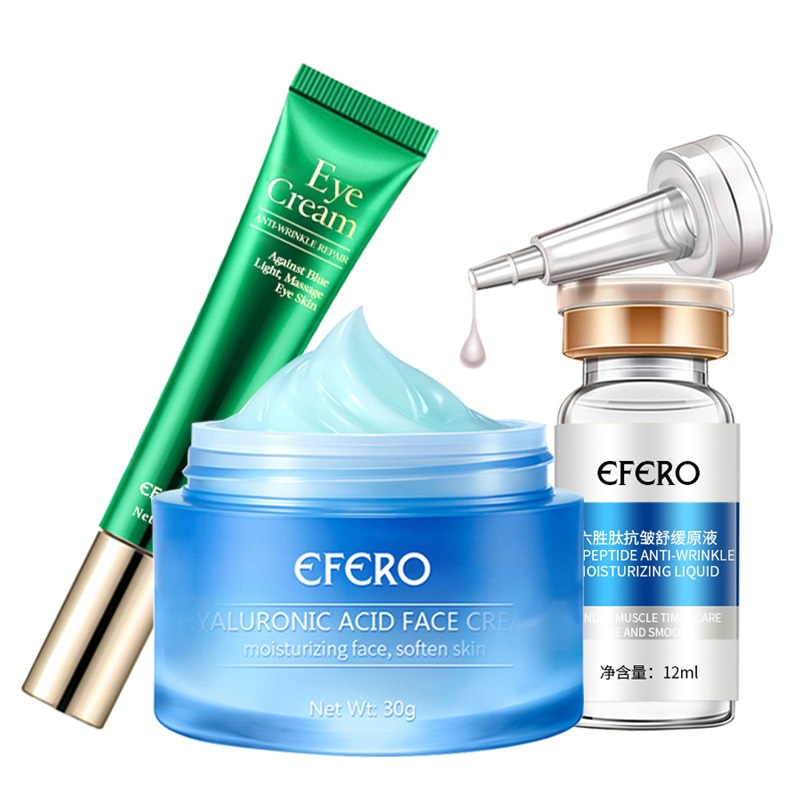 Hyaluronic Acid Face Cream Moisturizer Whitening Face Serum Six Peptides Eye Cream For Eyes Care Anti-aging Wrinkle Eye Creams