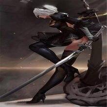 Jogo de cosplay nier automata yorha não. 2 tipo b 9s branco contrato espada prop arma role play nier automata yorha plutônio espada 105cm