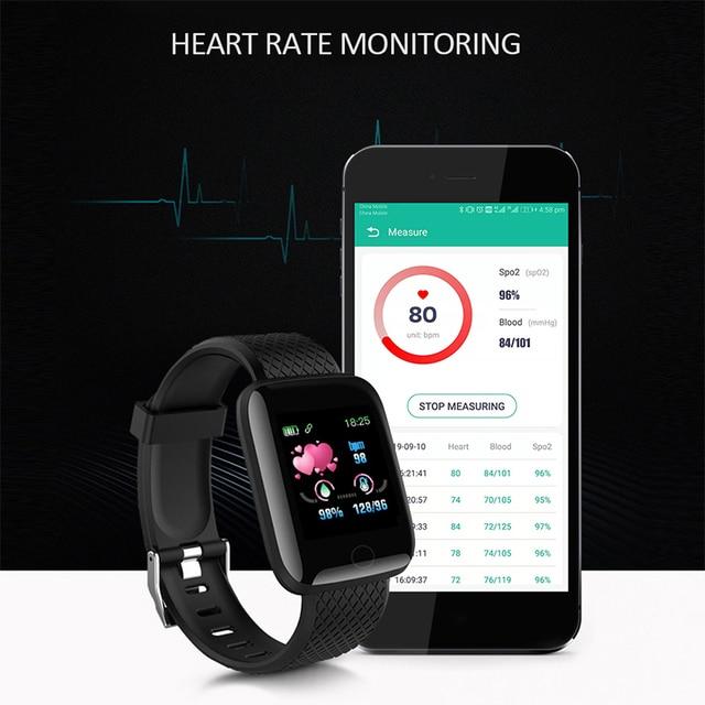 116PLUS Smart Watch Bracelet Color Screen Heartrate Blood Pressure Monitoring Track Movement IP67 Waterproof Smartwatch With App 5