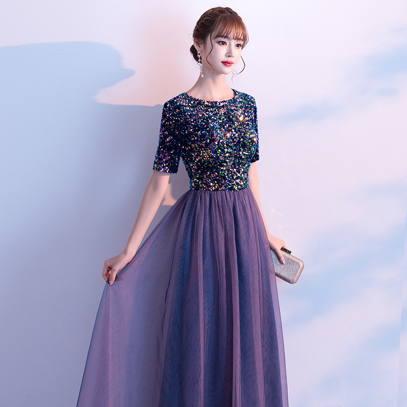 2019 Limited The Evening Dress Female 2020 Annual Meeting Of New Temperament Gao Guiliang Piece Long Chorus Costumes