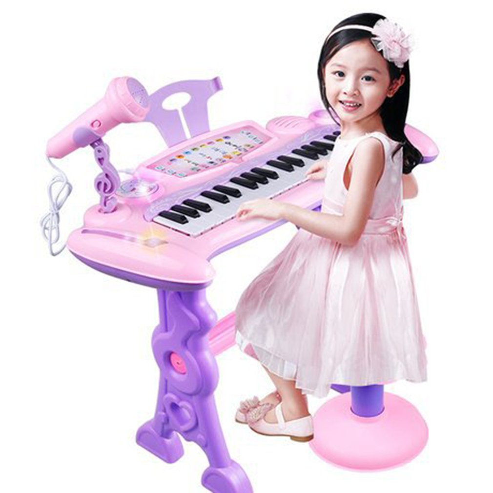 Children's 37 Key Electronic Keyboard Piano Organ Toy Set Microphone Music Play Kids Educational Toy Gift