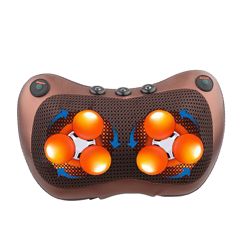electric vibrator pillow shoulder and back heating kneading infrared therapy shiatsu massager