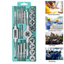Ratchet Spanner Silver Chamfering Device Multifunction Tap Wrench Wrench Combination 20pcs/Set Alloy Steel Hardware Set 12pcs set hardware tools tap wrench hand tapping cutter dies metric group 2017 limited time limited carbon steel ratchet