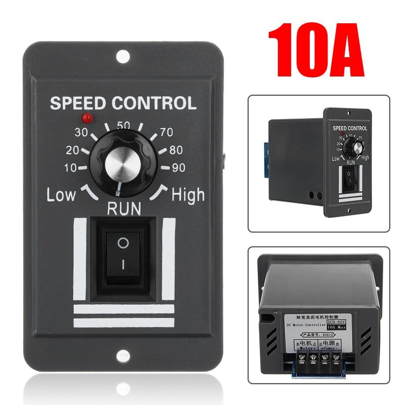 DC 12V 24V 36V 48V 10A PWM Motor Speed Controller Reversible Switch Regulator Control Forward Rotation Stop Reverse