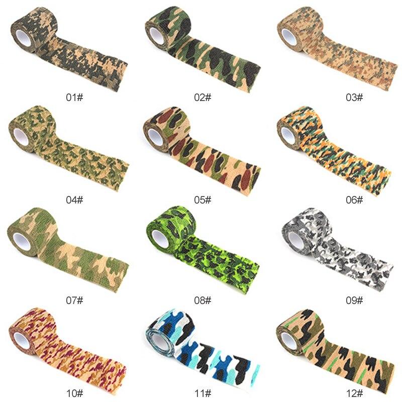 1pc 사냥 위장 내구성 야외 위장 테이프 사이클링 스티커 테이프 카모 총 사냥 방수 캠핑 블라인드 랩 새로운