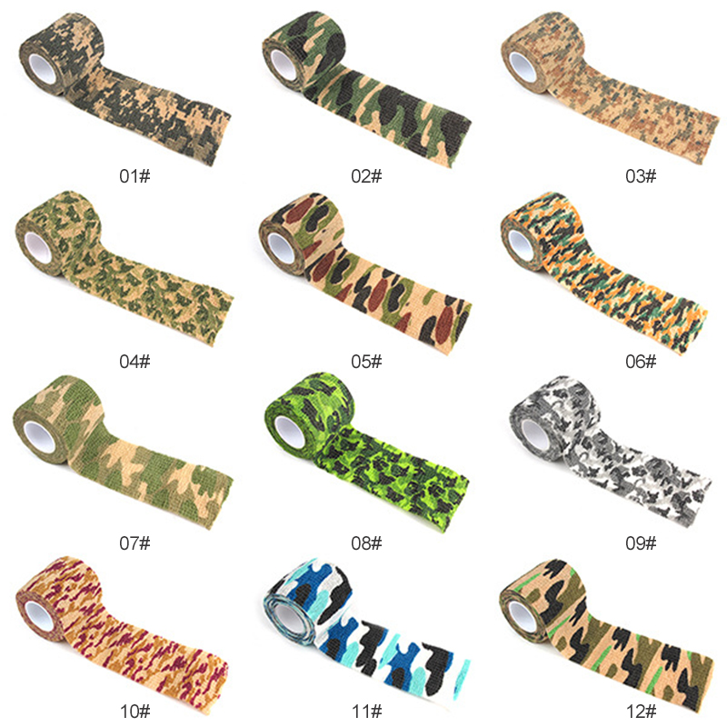 1pc Hunting Camouflage Durable Outdoor Camouflage Tape Cycling Stickers Tape Camo Gun Hunting Waterproof Camping  Blind Wrap NEW
