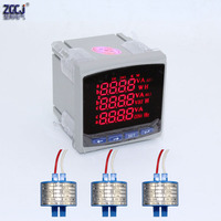 3 phase electricity digital meter 100A 150A 200A 300A 250A multifunction power meter with 3pcs current transformers|Current Meters| |  -