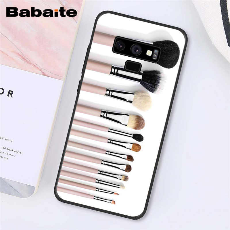 Babaite Naked Palette Mode Glam Make-Up tool haar Telefoon Geval Voor Samsung Galaxy A50 S10 Plus Note9 Note8 7 10 pro