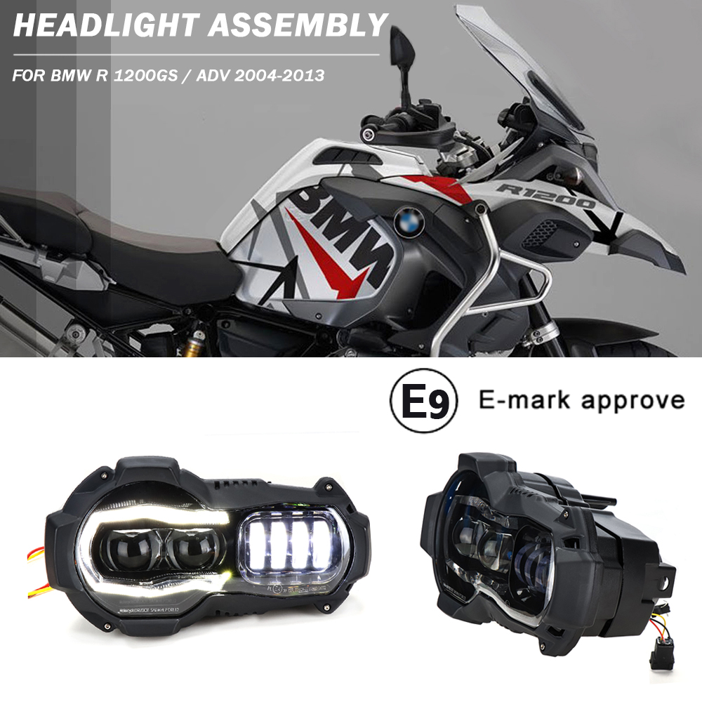 Front LED Head Lights Headlight For BMW R1200GS 2004-2012 R 1200GS ADV Adventure 2005-2013 Motorcycle Headlamp Accessories