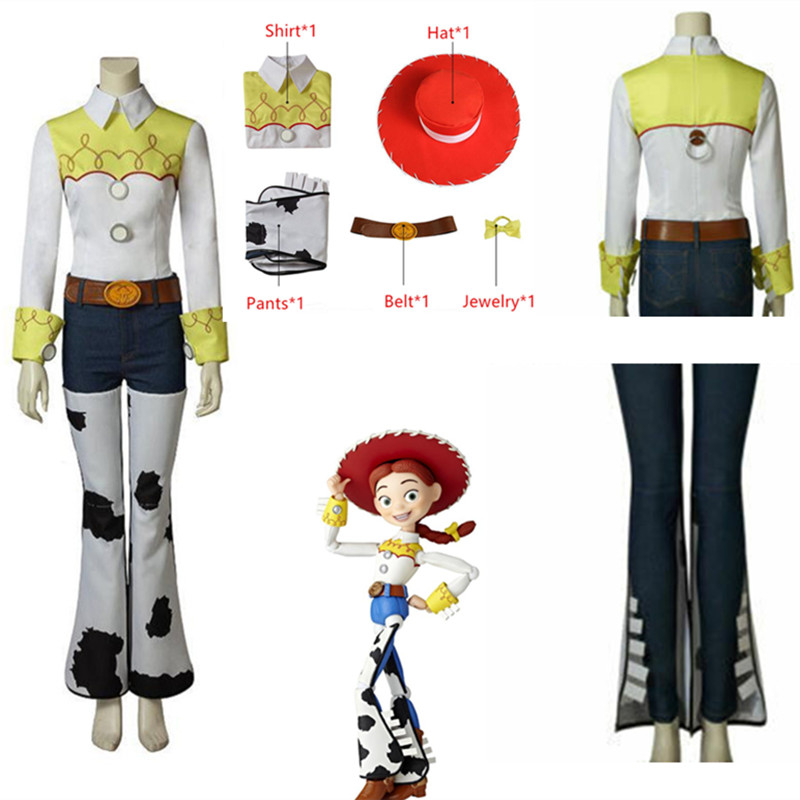 2019 Movie Toy Story 4 Jessie Costume Sherif Woody Police Uniform Cosplay Costume Halloween Men And Women Stage Party Costumes