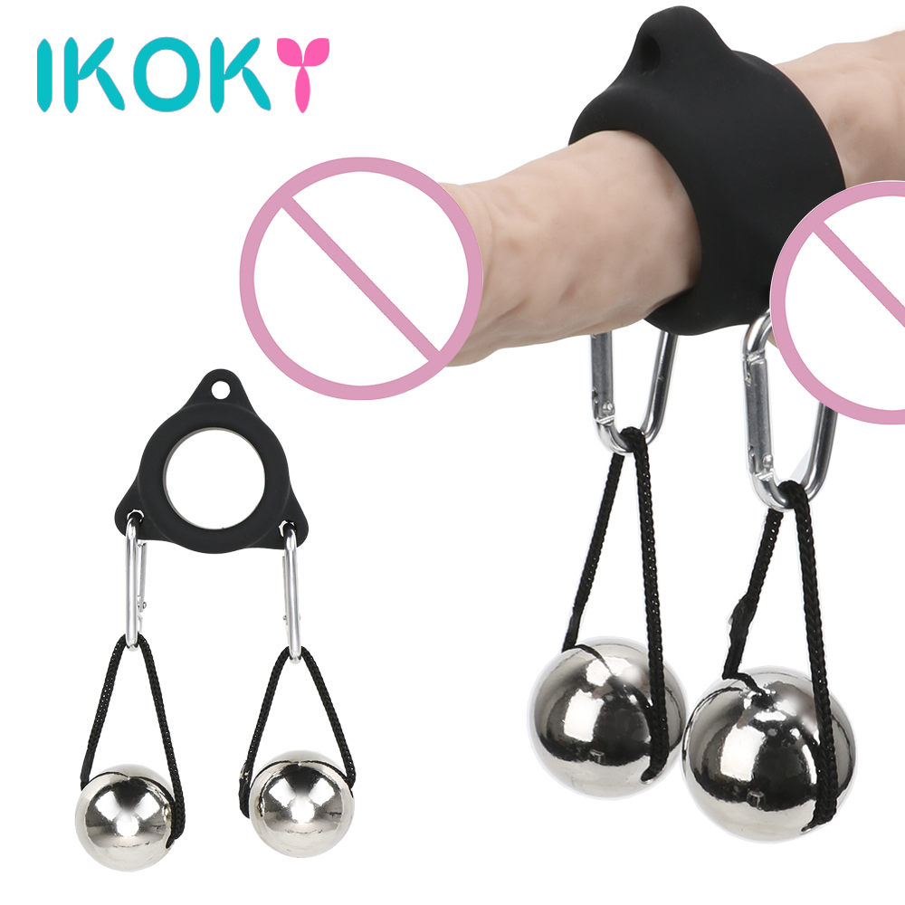 IKOKY Metal Gravity <font><b>Ball</b></font> Male Glans Penis Exercise Cock Ring Penis Ring Lasting Enhance <font><b>Sex</b></font> <font><b>Toy</b></font> <font><b>for</b></font> <font><b>Men</b></font> 28MM/32MM <font><b>Adult</b></font> Product image