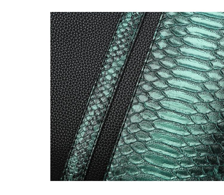 Luxo crocodilo padrão de couro das mulheres