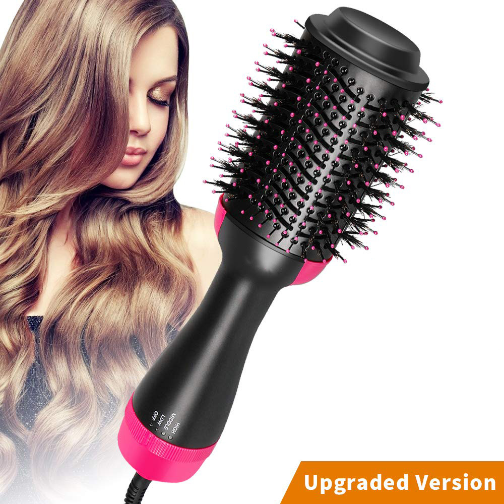 Dropshipping Hair Brush One-Step Hair BrushVolumizer Negative Ion Generator Hair Curler Straightener Styling Tools
