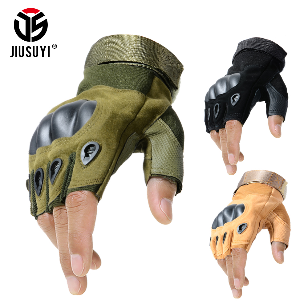 Tactical Fingerless Gloves Military Army Shooting Paintball Airsoft Bicycle Motorcross Combat Hard Knuckle Half Finger Glove Men
