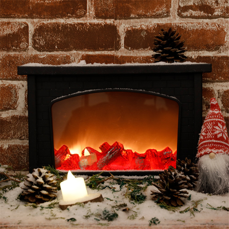 Christmas Simulation Fireplace LED Lamp Xmas Decoration <font><b>Light</b></font> Flame Lamparas Festival Creative Night <font><b>Light</b></font> <font><b>Home</b></font> <font><b>Decor</b></font> Xmas Gifts image