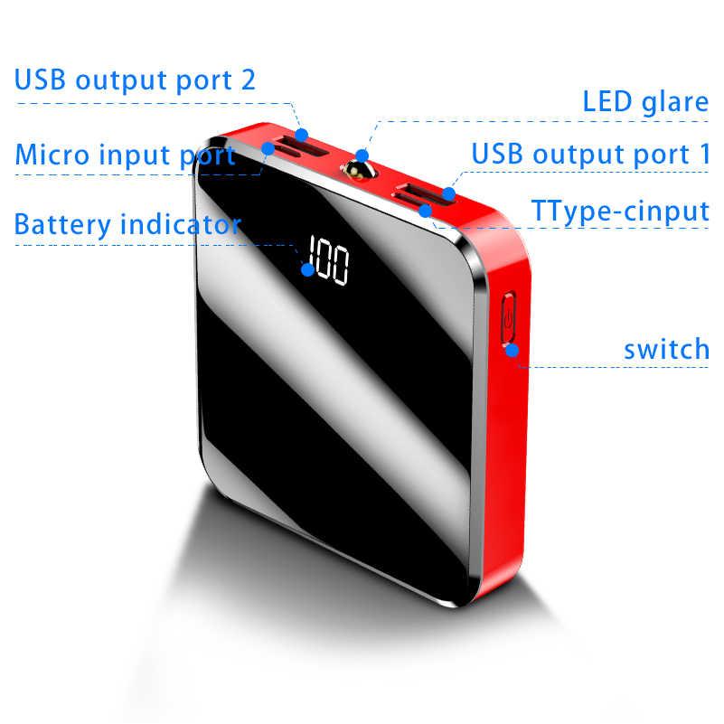 30000mAh Per Xiaomi Powerbank Portatile Mini Banca di Potere Dello Schermo Dello Specchio Display A LED Batteria Esterna Poverbank per il iPhone 11 8