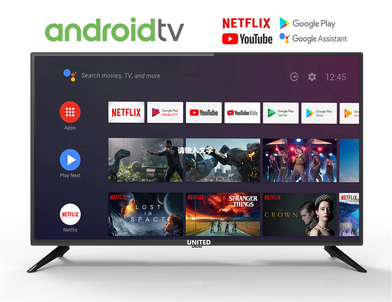 Android 9.0 UNITED <font><b>32</b></font> inch TV HD Google TV Voice Control <font><b>32</b></font>