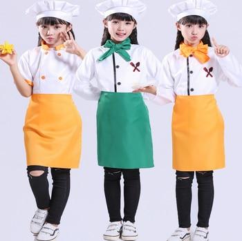 Kindergarten Chef Costume Restaurant Waitress Wear  Colorful Apron  Restaurant  Uniform  Kawaii Kitchen Bakery - DISCOUNT ITEM  0 OFF All Category