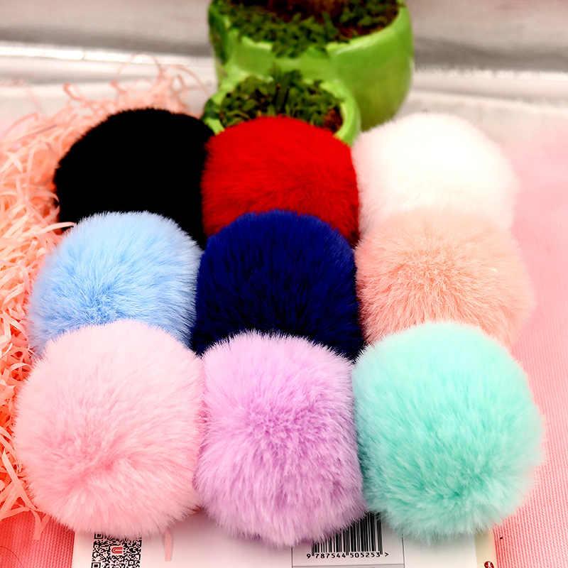 6cm Rex Rabbitt Haarbal Mooie Pluizige Stof Pompom Vrouwen Tas Sleutelhanger Hoofdband Speelgoed DIY Accessoire Sieraden Grote Zachte harige Pompons