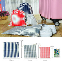 Organizer Storage-Pouch Cosmetic-Bag Makeup-Case Linen Canvas Cotton Travel Women Beam