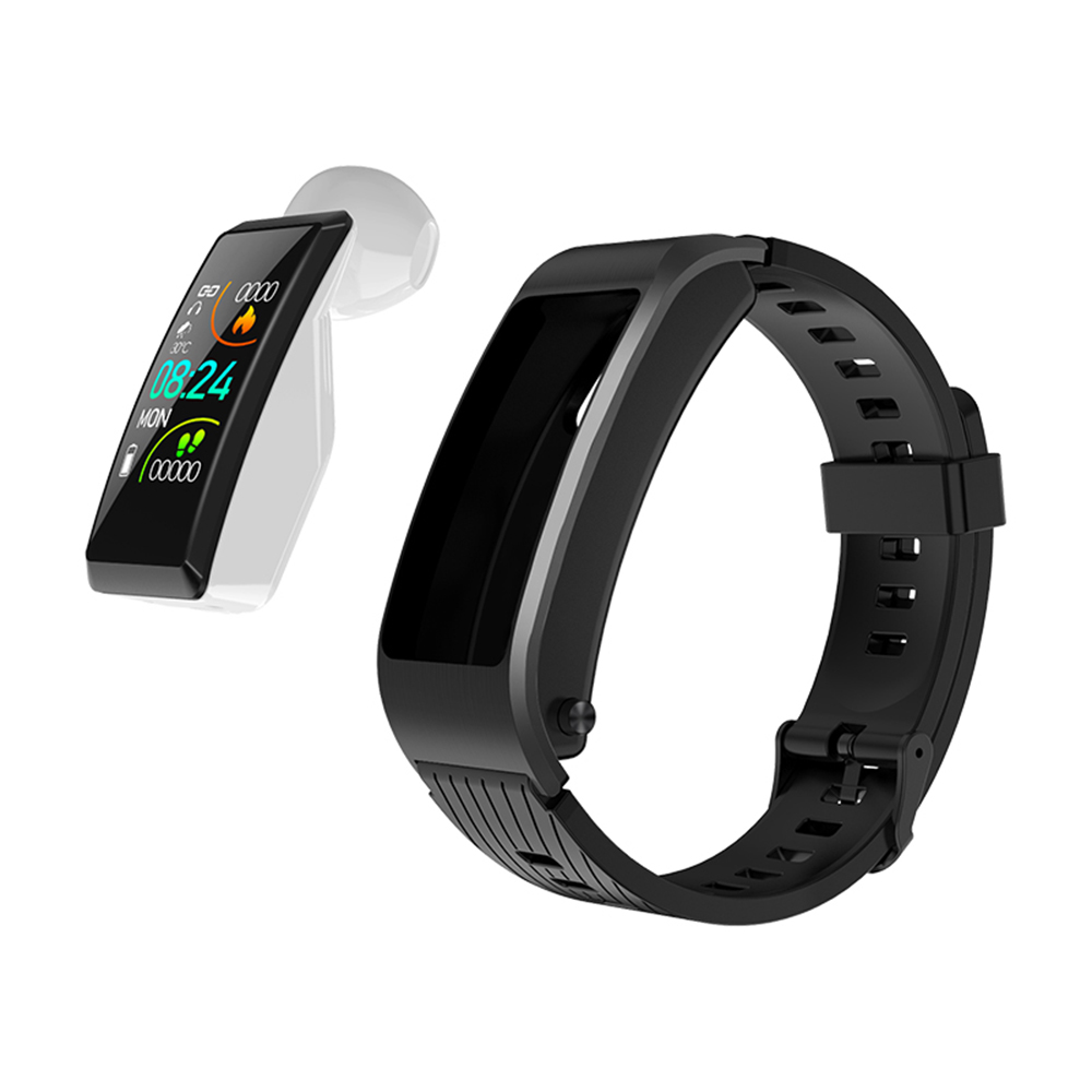 <font><b>S2</b></font> <font><b>Bluetooth</b></font> Wireless headset smart watch Health Tracker Fitness Bracelet Plus Smart Wristband earphone for sport charger box image
