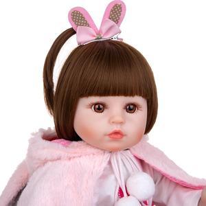 Image 5 - KEIUMIน่ารักซิลิโคนเด็กทารกRebornตุ๊กตา48ซม.Charming Reborn Bonecaกระต่ายเด็กวัยหัดเดินสวมเสื้อคลุมสำหรับเด็กวันเกิดPlaymate