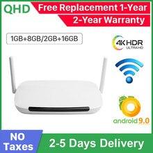 Leadcool Q9 Android 9.0 TV Box 4K S905W Quad Core 2G 16G Media Player 2.4G Wifi 100M LAN 1G 8G TVBOX Set top Box