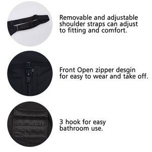 Image 3 - Cintura de látex shapers bunda levantador com controle de barriga roupa interior shapers colete emagrecimento shapewear bodysuit corpo inteiro shaper clipe zip
