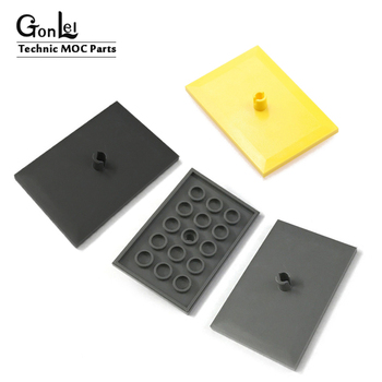 10Pcs/Lot TECHNIC PARTS Train Cover Plate 3x5 Bricks Building Blocks Parts DIY Toys Compatible with  city train Toys gifts 20pcs lot technic parts ev3 bionicle 1x3 tooth with axle hole brick blocks parts diy toys compatible with major parts boy gifts