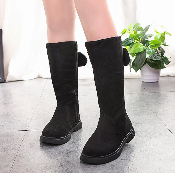 Girls High Boots Fur Thick Warm Children's Shoes New Kids Snow Boots Top Quality Baby Cotton Shoes For Boys Winter