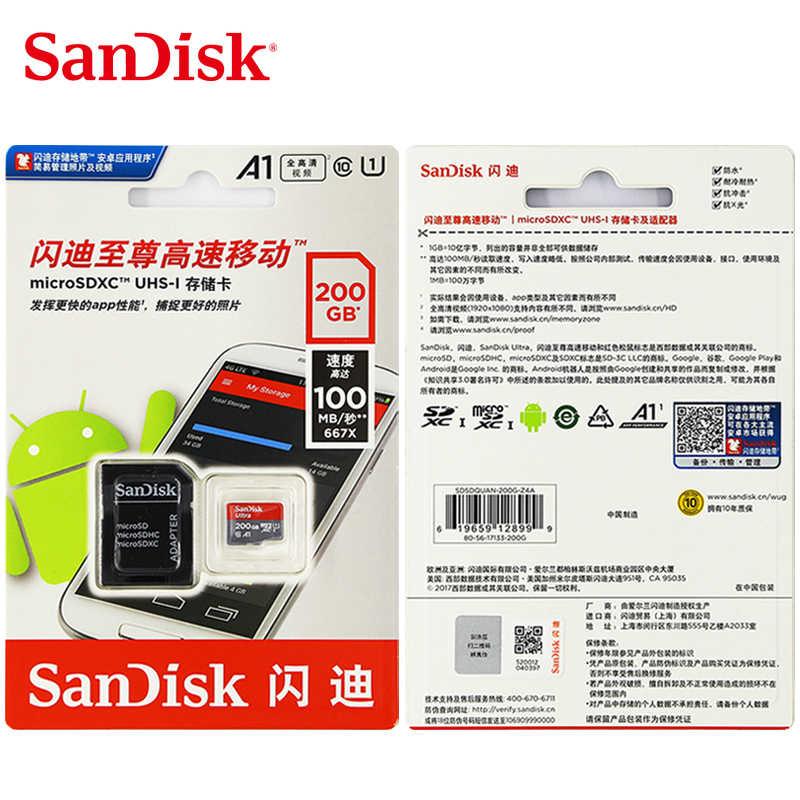 100% Nguyên Bản Thẻ Nhớ Sandisk Micro SD 16 GB Class10 thẻ TF 32 GB 64 GB 128 GB 98 MB/giây nhớ thẻ 200 GB cho samrtphone/bàn MÁY TÍNH