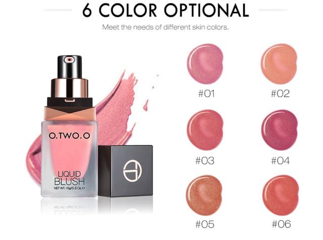 O.TWO.O Makeup Face Liquid Blusher Waterproof Long Lasting Lip liquid Natural Cheek Face Base Contour Blush Makeup 2