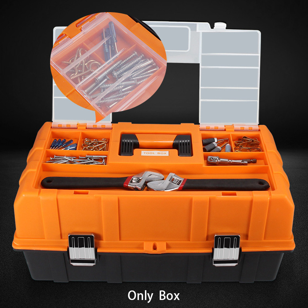 17inch Practical Tool Box Sturdy Multifunction Organizer Three Layers Craft Portable Storage Case Large Capacity Repair Foldable