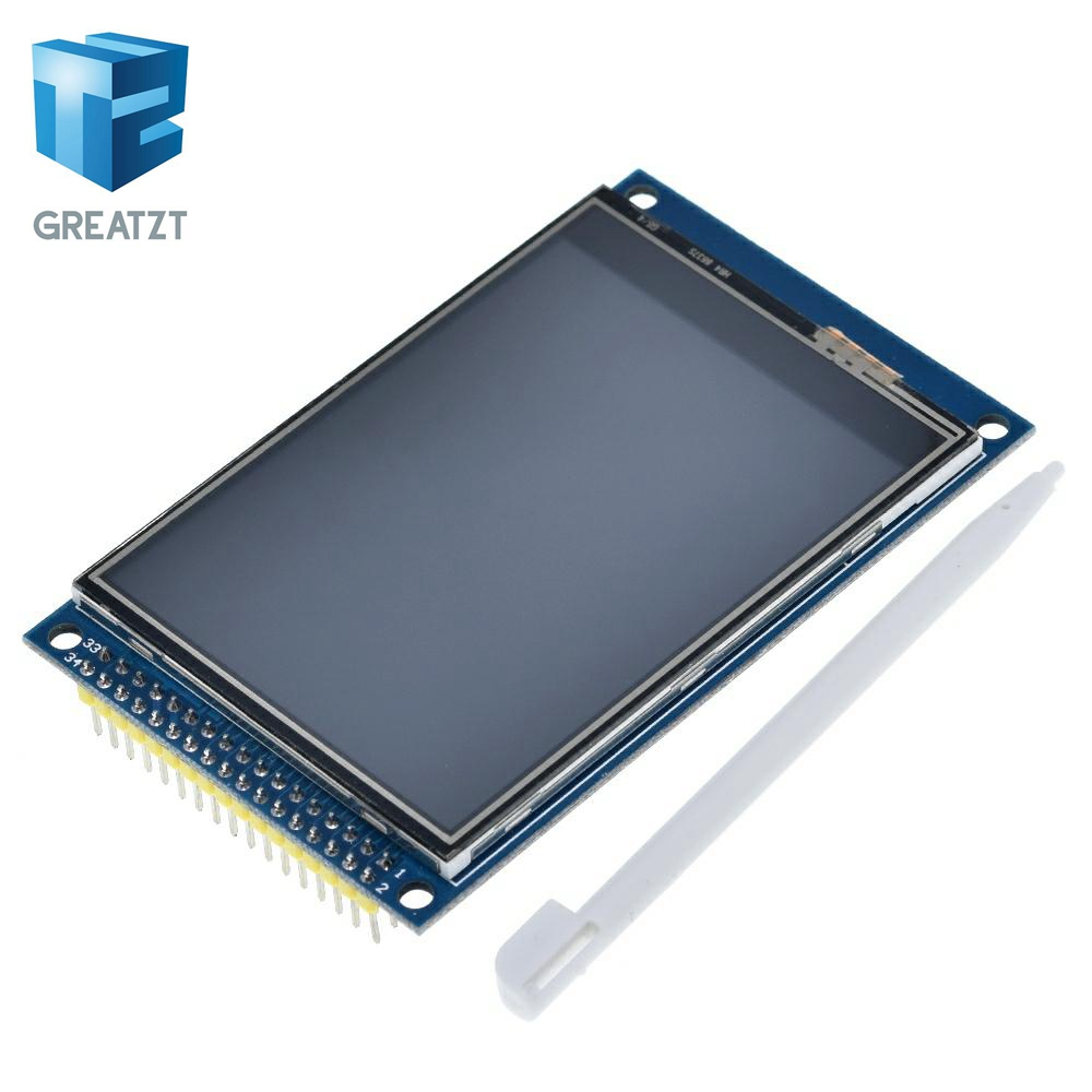 GREATZT 3.2 Inch TFT LCD Touch Screen Module Display Ultra HD 320X240 ILI9341 For Arduino 3.2'' 320240 240x320 240320 2560 Diy
