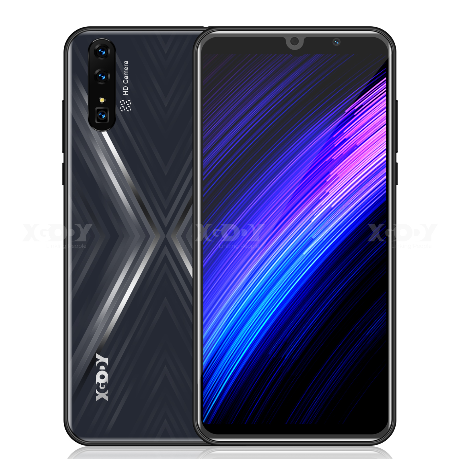 "XGODY MateX 3G Smartphone 6"" Android 9.0 18:9 QHD MTK6580 2GB RAM 16GB ROM 2800mAh Dual SIM 5.0MP Camera GPS WiFi Mobile Phone"