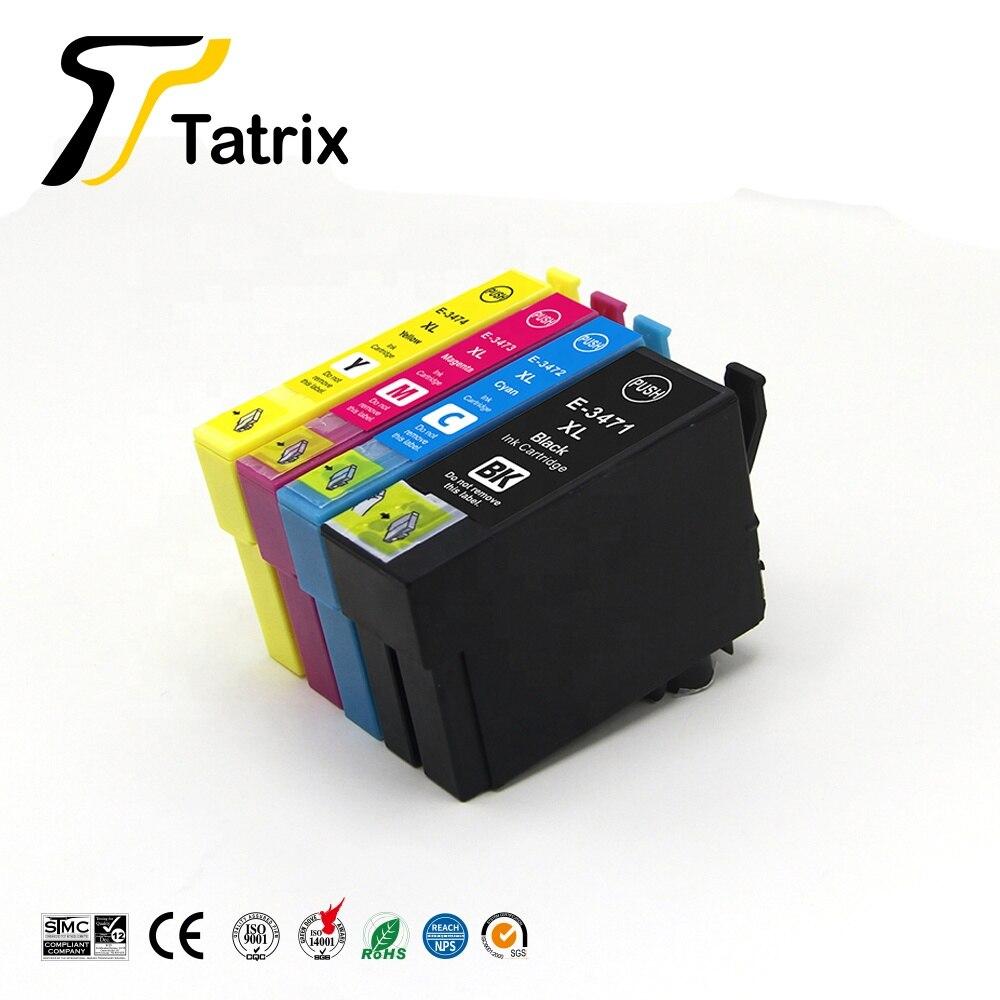 Tatrix For Epson 34XL T3471   T3474  Ink Cartridge For Epson WorkForce Pro WF 3720DWF / 3725DWF Printer|Ink Cartridges| |  - title=