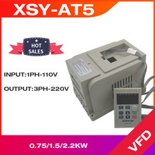 VFD 0.75KW/1.5KW/2.2KW frequency converter XSY-AT5 1P 110V Input 3P 220V output