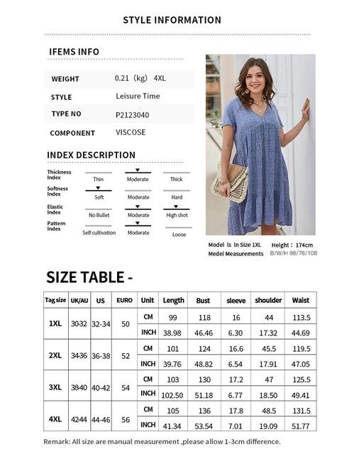 New 2021 Summer Dress Plus Size Women Beach Dresses Fashion Floral Chiffon Dress Short Sleeve V-Neck Loose Daily Dress Female 5