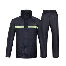Raincoat men rain pants suit waterproof motorcycle rain jacket poncho table size Large Size fishing suit rainwear durable