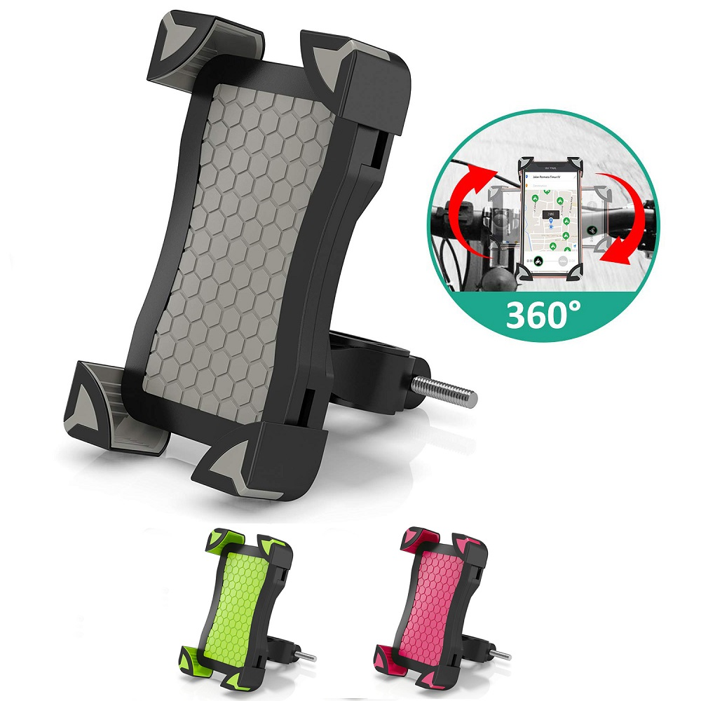 Untoom Bike Phone Holder Universal Bicycle Motorcycle Phone Mount Holder Stand Cradle For IPhone X Xs Max Xr 8 7 Plus Samsung S9