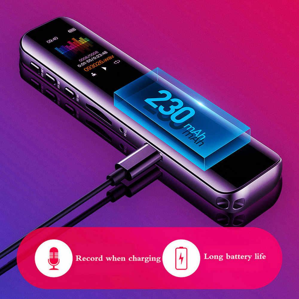 8G 16G Perekam Suara MP3 Pemain Rekaman Profesional Pena Digital Dictaphone Audio Merekam Suara Mendukung Hingga 128GB Kartu TF