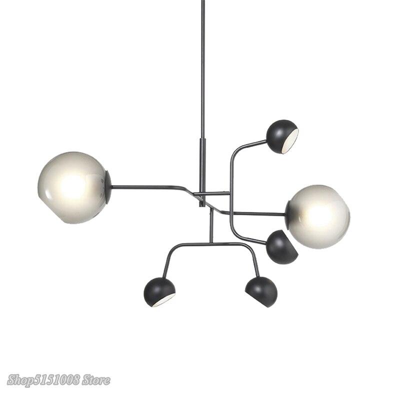 Lampes suspendues en verre moléculaire nordique lampe suspendue de haricot magique postmoderne de concepteur pour le Luminaire de décor à la maison de chambre à coucher de salon
