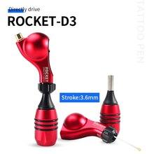 Roket D3 sürücü doğrudan döner dövme makinesi güçlü Motor Rotary dövme makinesi döner dövme tabancası