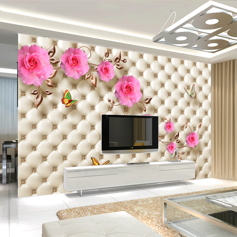 Large Mural 3D Wall Cloth Television Wallpaper Sofa Living Room Film And Television Shadow Wallpaper Mural