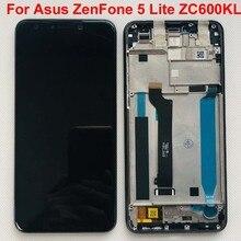 6.0 אינץ מקורי מלא תצוגת LCD + מסך מגע Digitizer עצרת עבור Asus ZenFone 5 לייט 2018 ZC600KL S630 SDM630 עם מסגרת