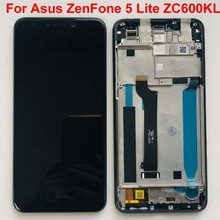 6.0 inch original Full LCD DIsplay+Touch Screen Digitizer Assembly For Asus ZenFone 5 Lite 2018 ZC600KL S630 SDM630 with frame
