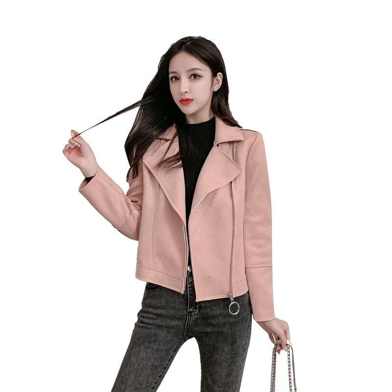 Veste femme printemps et automne nouvelle édition coréenne défilés de mode mince et facile à assortir Deerskin velours veste manteau court femme