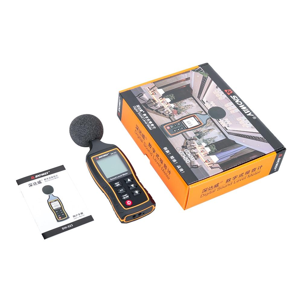 SNDWAY Medidor digital de nivel de sonido Decibelio Monitoreo - Instrumentos de medición - foto 6