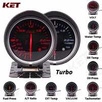 Difi BF White&red Light 60mm Gauge Volt water temp oil temp oil press rpm vacuum boost ext temp air/fuel Ratio auto gauge meter