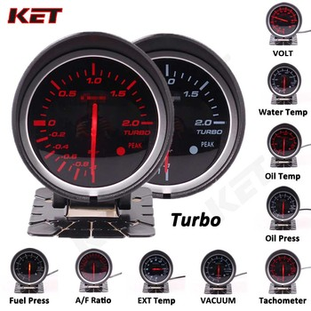Difi BF White&red Light 60mm Gauge Volt water temp oil temp oil press rpm vacuum boost ext temp air/fuel Ratio auto gauge meter